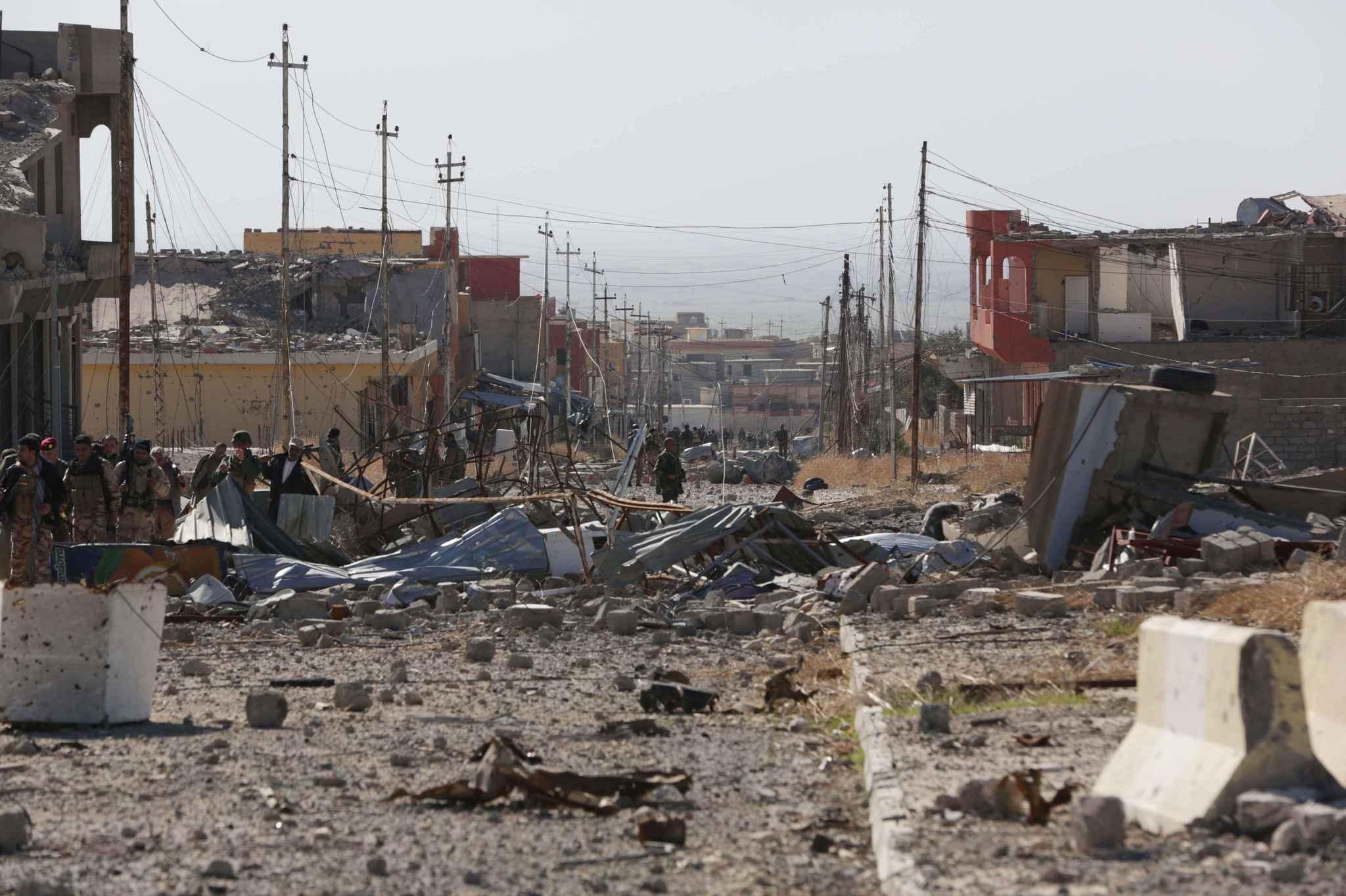 Ville de Sinjar en Irak fin 2015